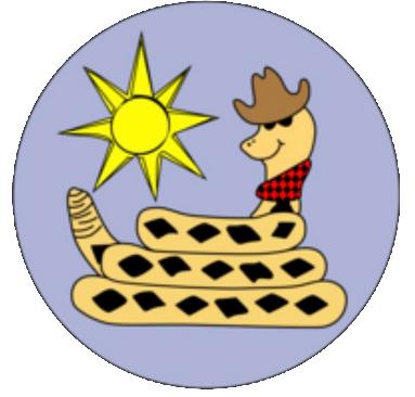 """4"""" x 4"""" Sunrise Sammy Sticker"""